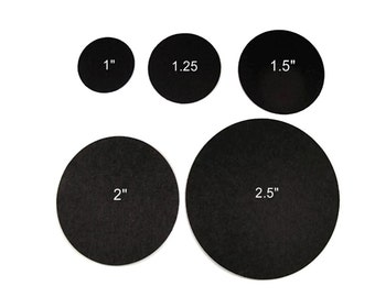 Black Paper Circles, Round Black Circles, Blank Black Circles, Black Circles, Paper Circles, Black Wedding Tags, Your choice of size