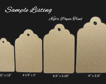 Kraft Tags Sample Pack - Five Sizes