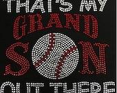 Rhinestone Baseball Grandma T-Shirt - Bling Shirt - Sports, High School, College, Spirit Shirt