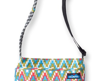 Monogrammed Kavu Rope Bags - Sidewinder - Garden Tile - Great gift for College, Teens, Women, Outdoors Satchel Crossbody Tote