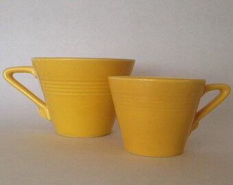Vintage Harlequin Yellow Demitasse A D After Dinner Cup Homer Laughlin Fiesta Fiestaware