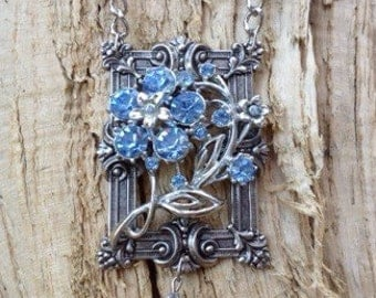 Something Blue Vintage Restyled Necklace