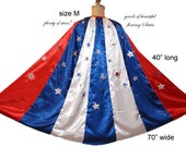 "Med. 40"" L x 70"" W Awesome Satin Cape for your Super Hero / Wonder Woman or WW Nemesis Costume..."