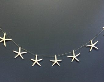 Starfish Banner,Beach Wedding Banner,Starfish Wedding Decor,Starfish Garland,Nautical Decor,Starfish Wall Art,Mermaid Party Decor,Sea Stars