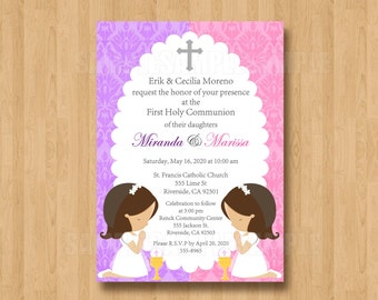 il_340x270.921170465_pm1g liv and maddie birthday party personalized invitation digital,First Communion Invitations For Boy Girl Twins