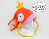 Magikarp Pokemon Slouchy Fleece Hat - Made to Order