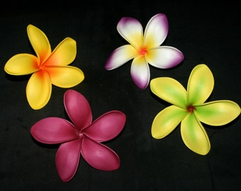 Large Foam Plumeria Hair Picks