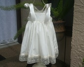 Handmade Ivory or white flower girl dress available in sizes 1 to size 10