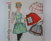 Vintage 60s One Yard Apron Pattern Simplicity 4213 One Size