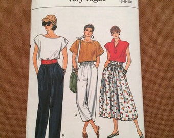 Vogue Very Easy Sewing Pattern 9303- Womens skirt & Pants  sz 6, 8, 10