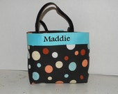 Gracie  Size Monogrammed, Personalized Tote,Valentines,  Flower Girl, Bridesmaids, Wedding, Birthday, Shower gift