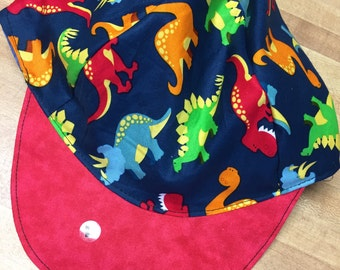 Reversible dinosaur baseball hat 0-adult//adult baseball//Dino hat//dinosaur baseball//infant baseball//toddler boy baseball//adult Dino hat