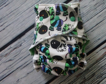 One Size Stay Dry Overnight Fitted Cloth Diaper in One of a Kind SLIGHT SECOND