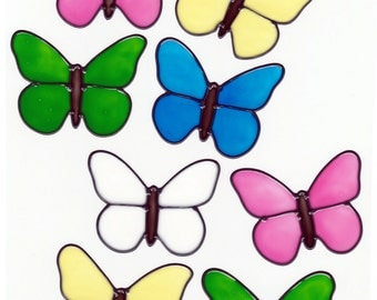 Butterfly Solids Window Cling Set