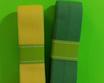 Yellow And Green Stretch Elastic
