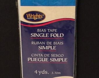 Wrights Turquoise Single Fold Bias Tap