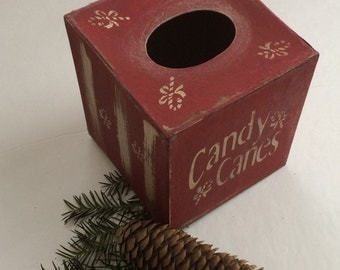 Paper Mache Vintage Christmas Tissue Box