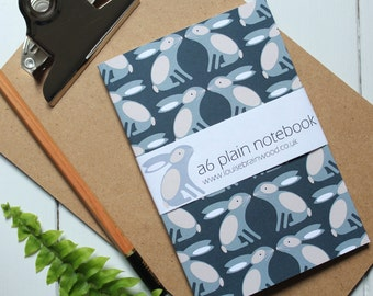 Rabbits pattern small notebook