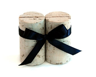 Vertical Wine Cork Place Card Holders with Ribbon, More Color Options Available