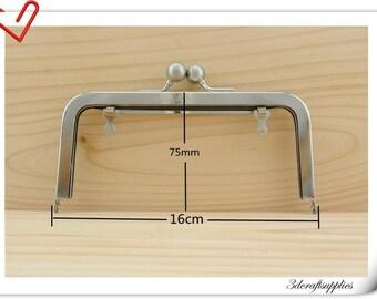 16cm x 7.5cm Purse frame,Bag Frames brushed Nickel A15