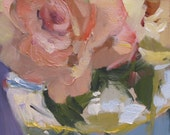 Shadow Rose II.....impressionistic, roses, floral, small painting