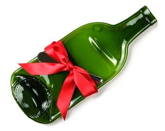 Christmas Wine Bottle Cheese Tray, Holiday Hostess Gift, Cheese and Wine Party, Cheese Board, Unique Gift, One of a Kind Gift, Holiday Gift