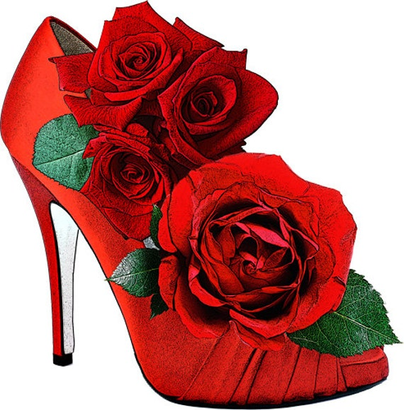 red high heel shoe roses clip art png clipart flower floral prinbtable digital download image fashion graphics art printables commercial use