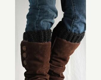 Sale Boot cuff, boot topper, wool, black,