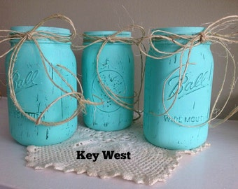 3pc Quart Jar Set in Key West Blue