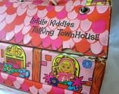 Dollhouse 1968 Doll Collectible Toy Vintage Liddle Kiddles Talking Townhouse Vinyl Does Not Talk Mattel Pink