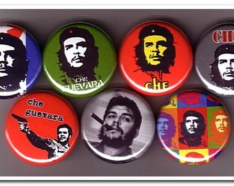 CHE Guevara buttons, pins, badges