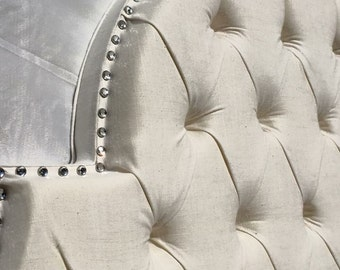 queen upholstered headboard off white headboard tufted headboard upholstered headboard queen size off white linen headboard