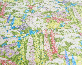 Monet Style Tablecloth, Flower Tablecloth, Floral Tablecloth, Green Tablecloth,  Flower Garden Tablecloth