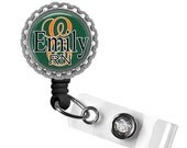 ON SALE - COLLEGIATE Miami Hurricanes Personalized Id Badge Reel - Gifts for Nurses, Id Holder, Game Day, Nurse Lanyard, Team Spirit, Colleg