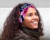 Headband For Women- Turban Headband- Hawaiian Floral Print Headband- Boho Chic Fall Accessory- Yoga Headband- Fall Fashion-Turban Hair Wrap