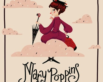 Mary Poppins Book Cover - Print