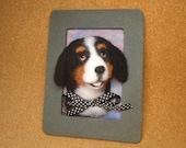 Bernese Mountain Dog Framed Needle-Felted Portrait