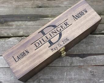 Monogram wine box, personalized wine box, anniversary wine box, wedding wine box ceremony, wooden wine box, wine gift box, wedding gift