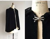 25% OFF SALE Donizetti silk velvet cape | vintage 1930s velvet cape | 30s silk velvet cape