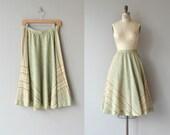 Catalina skirt | vintage 1970s skirt | woven gauze skirt | 1970s full skirt