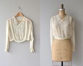 Avalon silk beaded blouse | silk 1920s blouse | vintage beaded 20s blouse