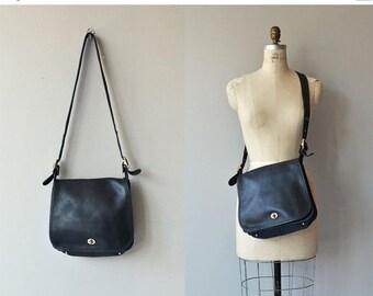 25% OFF SALE Coach Stewardess bag   vintage large Coach shoulder bag   black Coach purse