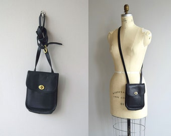 Coach Small Side Pack bag | vintage black Coach purse | small Coach crossbody bag