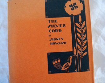 Vintage 1920s play script, The Silver Cord, comedy, Sidney Howard, paperback, 1st edition
