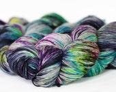 Magic Potion 463 yards on 'Posh' Sock Fingering Yarn/ 4 ply merino yarn, handpainted sprinkle