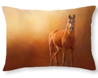 Horse Decor, Horse Cushion, Country, Horse Throw Pillow, Arabian horse Pillow Cover, horse lover Gift, Art Throw Pillow, Pillow