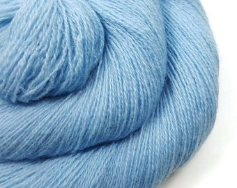100% Cashmere Yarn - Recycled Lace - Cashmere Yarn - Baby Blue 70515