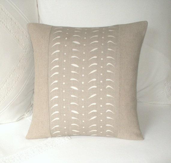 Natural Linen Cushion / Throw Pillow Cover UK Designer Susie