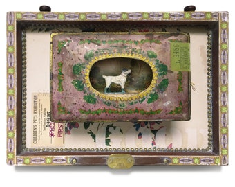 """Assemblage Art """"Special Prize"""" Jack Russel Terrier Dog Wall Decor"""