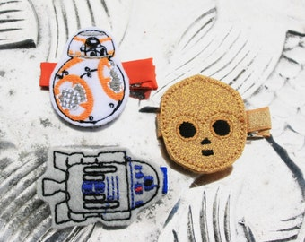 My Favorite Droid Clippie, Star Wars Droid Inspired Hair Clip, Your Choice